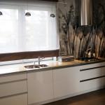Biała kuchnia - bateria plus zlew